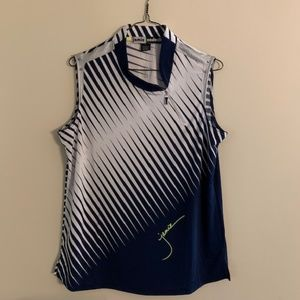 Jamie Sadock Prizm Print Sleeveless Golf Top
